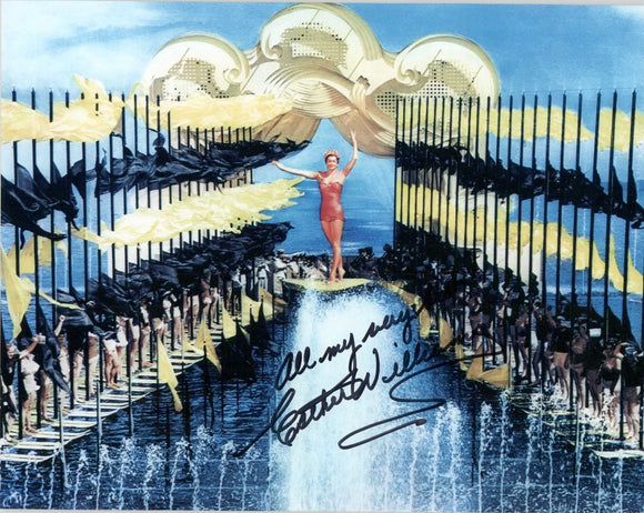Esther Williams (d. 2013) Signed Autographed Glossy 8x10 Photo - COA Matching Holograms