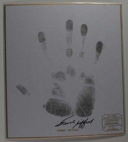 Frank Gifford Signed Autographed Limited Edition & Numbered Handprint