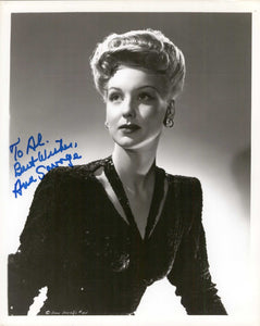 Ann Savage Signed Autographed Vintage Glossy 8x10 Photo - COA Matching Holograms