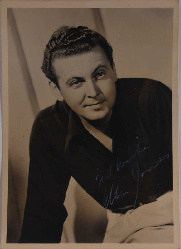 Allan Jones (d. 1992) Signed Autographed Vintage 5x7 Photo - COA Matching Holograms