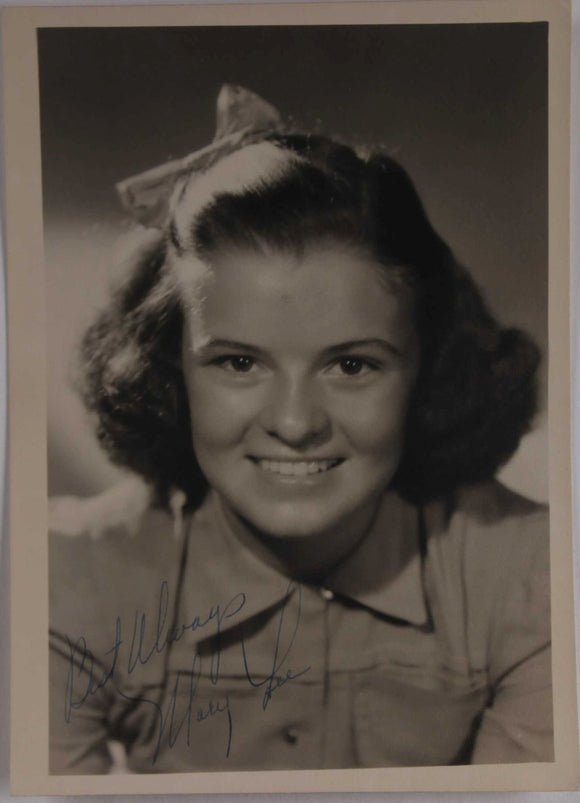 Mary Lee (d. 1996) Signed Autographed Vintage 5x7 Photo - COA Matching Holograms
