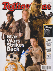 "Harrison Ford Signed Autographed Complete ""Rolling Stone"" Star Wars Magazine - COA Matching Holograms"