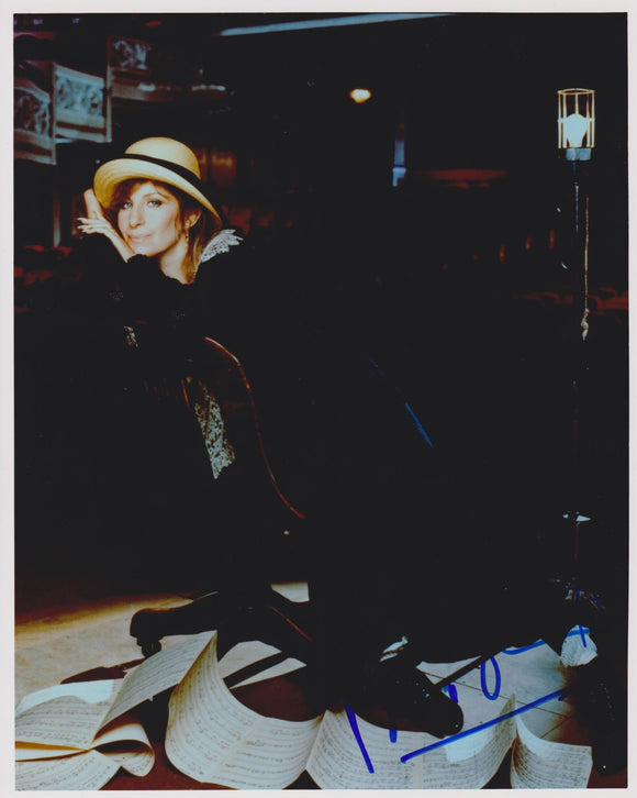 Barbra Streisand Signed Autographed Glossy 8x10 Photo - COA Matching Holograms