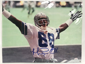 Michael Irvin Signed Autographed Glossy 11x14 Photo Dallas Cowboys - PAAS COA