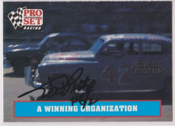 Lee Petty (d. 2000) Signed Autographed 1991 Pro Set NASCAR Racing Card - COA Matching Holograms