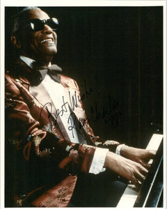Ray Charles (d. 2004) Signed Autographed 8x10 Photo - COA Matching Holograms