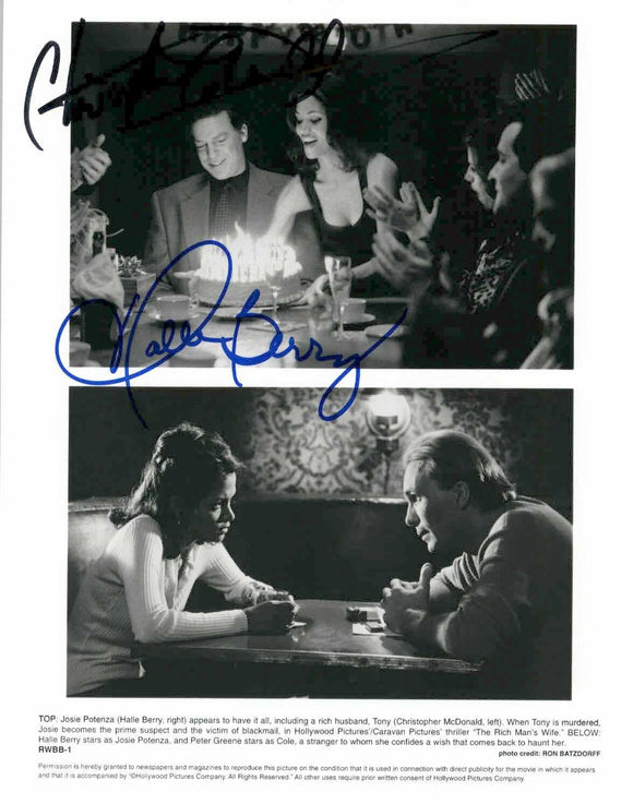 Halle Berry & Christopher McDonald Signed Autographed