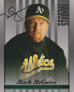 Mark McGwire Signed Autographed 1998 Donruss Studio 8x10 Photo Oakland Athletics A's - COA Matching Holograms