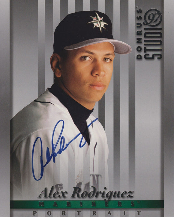 Alex Rodriguez Signed Autographed 1997 Donruss Studio 8x10 Photo Seattle Mariners - COA Matching Holograms