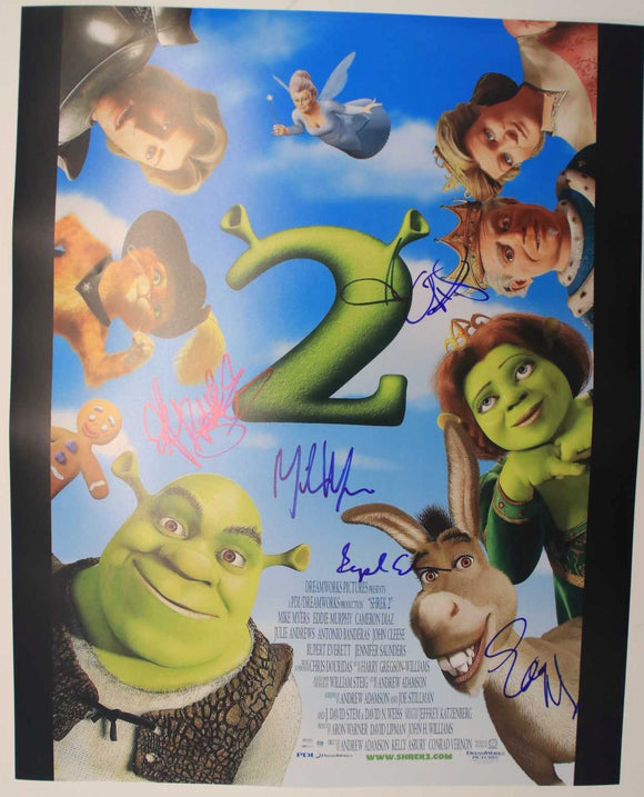 Shrek 2 Cast Signed Autographed Glossy 16x20 Photo - COA Matching Holograms