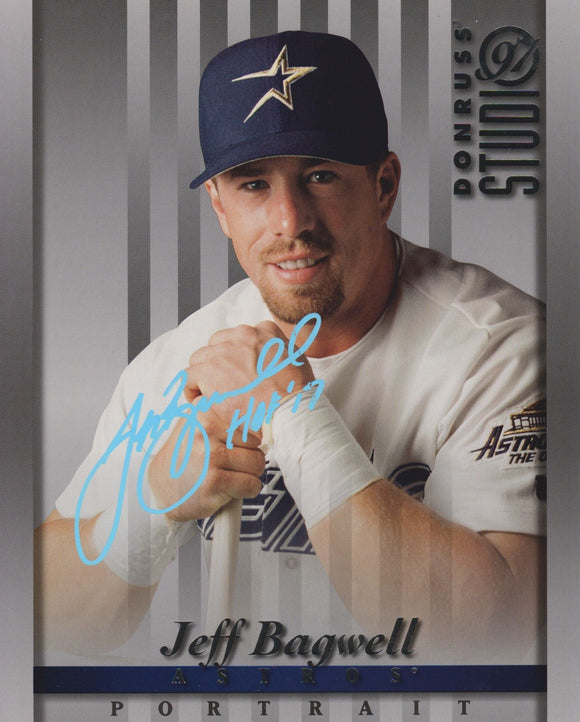 Jeff Bagwell Signed Autographed 1997 Donruss Studio 8x10 Photo - COA Matching Holograms