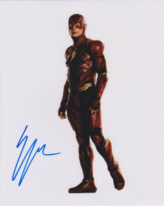 "Ezra Miller Signed Autographed ""The Flash"" Glossy 8x10 Photo - COA Matching Holograms"