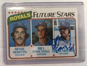 Dan Quisenberry (d. 1998) Signed Autographed 1980 Topps Future Stars Rookie Baseball Card - Kansas City Royals