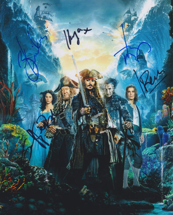 Pirates of the Caribbean Cast Signed Autographed Glossy 8x10 Photo - COA Matching Holograms