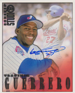 Vladimir Guerrero Signed Autographed 1998 Donruss Studio 8x10 Photo Montreal Expos - COA Matching Holograms