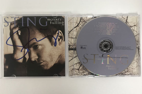 Sting Signed Autographed