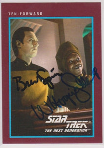 Brent Spiner & Whoopie Goldberg Signed Autographed 1991 Star Trek Trading Card - COA Matching Holograms