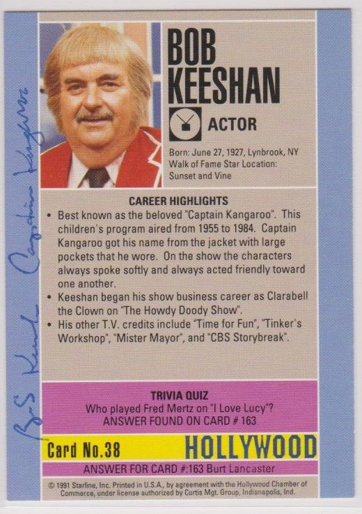 Bob Keeshan (d. 2004) Signed Autographed