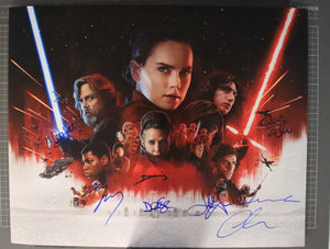 Star Wars Last Jedi Cast Signed Autographed Glossy 16x20 Photo - COA Matching Holograms