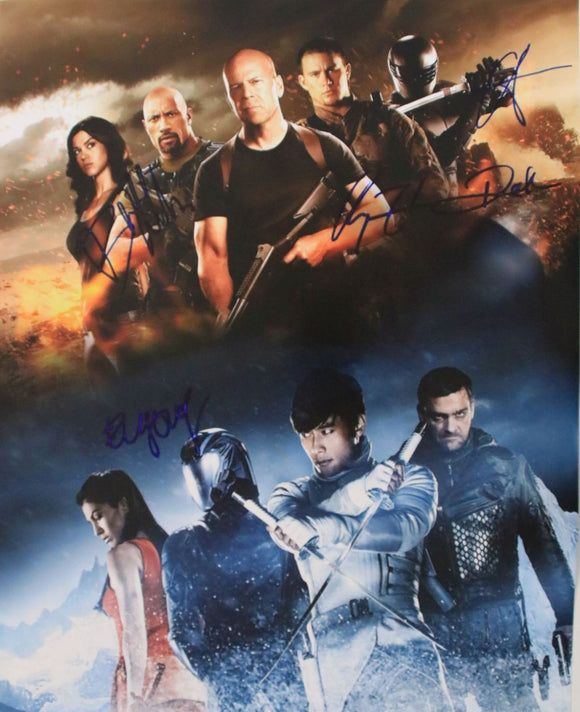 G.I. Joe Retaliation Cast Signed Autographed Glossy 16x20 Photo Channing Tatum, Bruce Willis, etc. - COA Matching Holograms