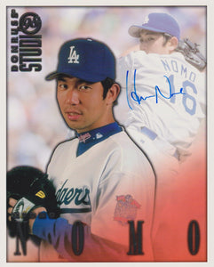 Hideo Nomo Signed Autographed 1998 Donruss Studio 8x10 Photo - COA Matching Holograms