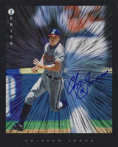Chipper Jones Signed Autographed 1997 Pinnacle Zenith 8x10 Photo - COA Matching Holograms