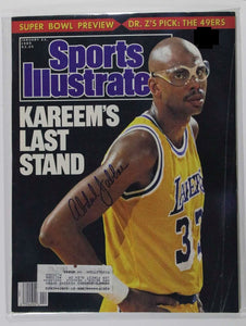 "Kareem Abdul-Jabbar Signed Autographed Complete 1989 ""Sports Illustrated"" Magazine - COA Matching Holograms"