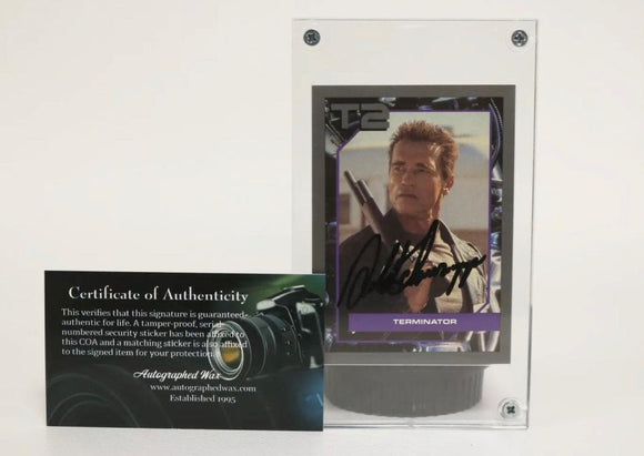 Arnold Schwarzenegger Signed Autographed Terminator 2 Trading Card - COA Matching Holograms