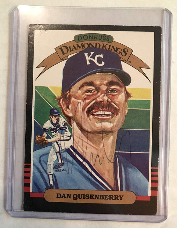 Dan Quisenberry (d. 1998) Signed Autographed 1985 Diamond Kings Baseball Card - Kansas City Royals