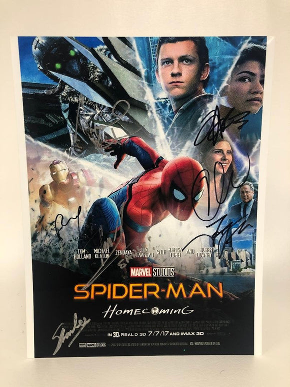 Spider-Man Homecoming Cast Signed Autographed Glossy 8x10 Photo - COA Matching Holograms