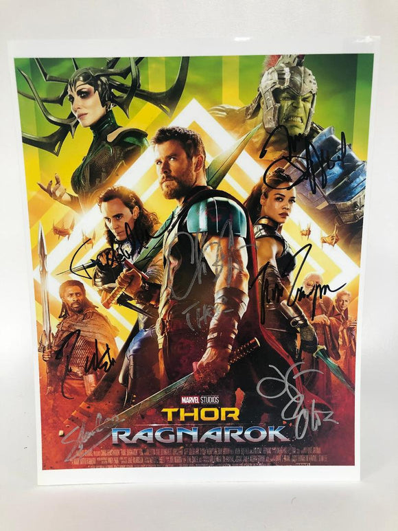 Thor Ragnorak Cast Signed Autographed Glossy 8x10 Photo - COA Matching Holograms