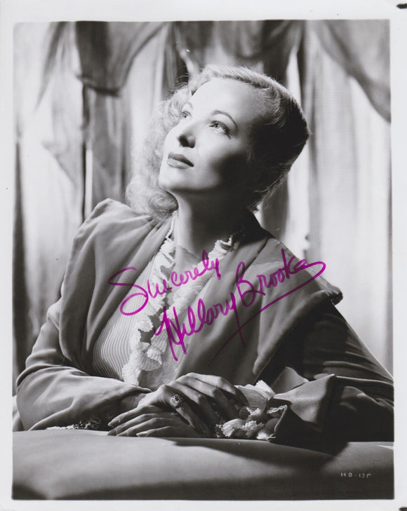 Hillary Brooke (d. 1999) Signed Autographed Glossy 8x10 Photo - COA Matching Holograms