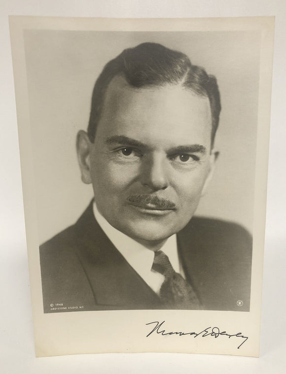 Thomas E. Dewey (d. 1971) Signed Autographed Vintage Glossy 8x10 Photo - COA Matching Holograms