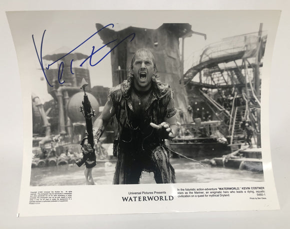 "Kevin Costner Signed Autographed ""Water World"" Glossy 8x10 Photo - COA Matching Holograms"