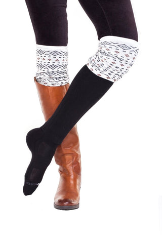 GEOMETRIC KNIT OVER THE KNEE SLOUCH