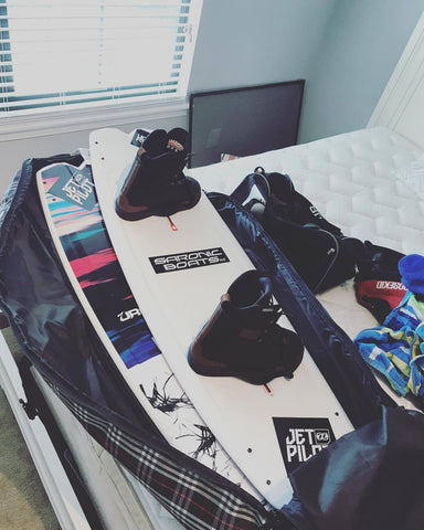 Packing Liquid Force & Jetpilot for wakeboard trip
