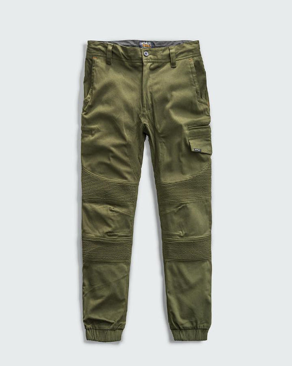 CORRUGATED STRETCH PANT-OLIVE