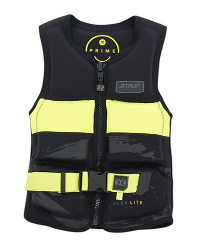 PRIME SEG F/E YOUTH BOYS NEO VEST - BLACK/ YELLOW