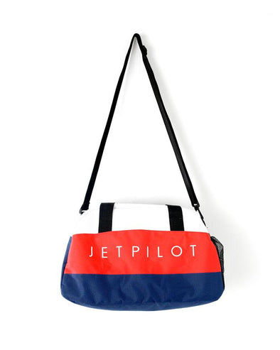 METAL DUFFLE BAG NAVY/RED