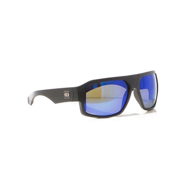 Strike Polar Sunnies - Matt Black / Blue Mirror