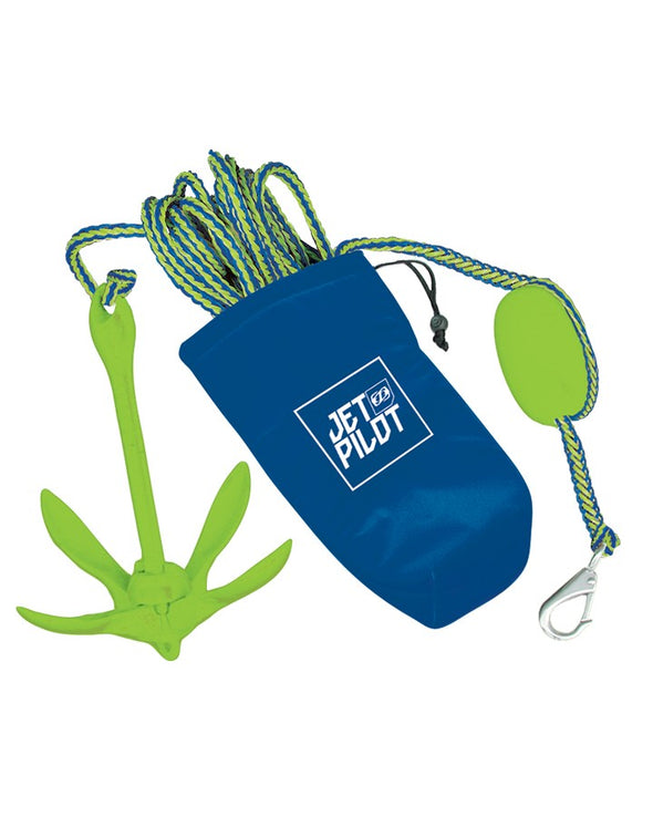 JP COMPLETE FOLDING ANCHOR - Blue/LIme