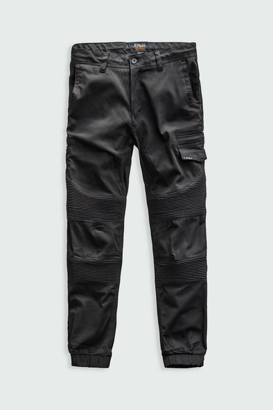 CORRUGATED STRETCH PANT-BLACK