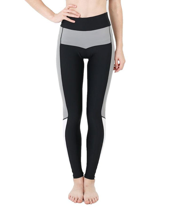JETPILOT SPORT EDITION LADIES LYCRA LEGGING BLACK/CHARCOAL