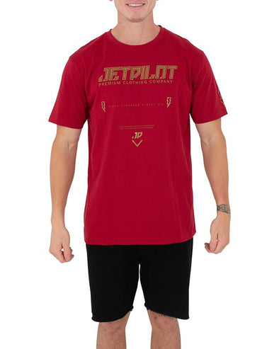 JETPILOT PREMIUM MENS TEE RED