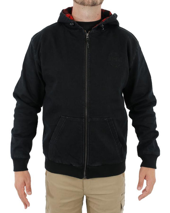 WASHED OUT MENS JACKET BLACK