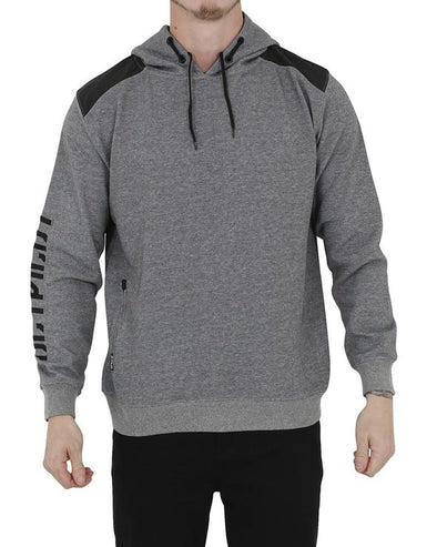 JETPILOT CARRIER MENS HOODIE CHARCOAL