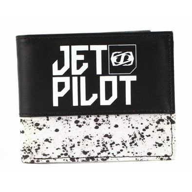 Spotted PU Mens Wallet - BLK/WHITE