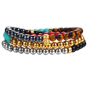 www.mensswaggerapparel.com Quick shipping low prices Men's Watches & Accessories Mister Trinum Bead Bracelet - Multi Color Gemstone