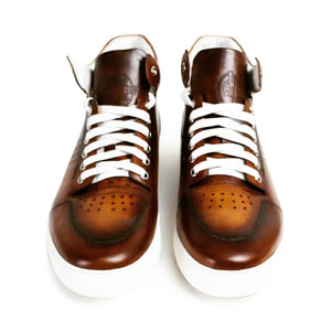 Men's Sport Boot Brown Genuine Leather