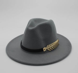www.mensswaggerapparel.com Quick shipping low prices men's Hat's Felt Hat Men Fedora Hats with Belt Women Vintage Trilby Caps Wool Fedora